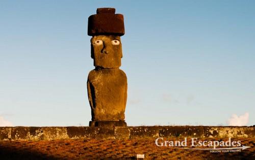 Moai, in Ahu Tahai, close to Hanga Roa, Rapa Nui or Easter Island, Pacific